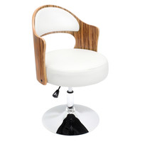 Cello Accent Chair , Zebra/White