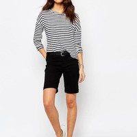 JDY | J.D.Y Classic Over The Knee Denim Shorts With Rolled Hem at ASOS