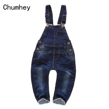 Baby Rompers Jeans Bib Overalls Spring Girls Boys Denim Jumpsuit Cotton Clothing Cowboy Toddler Clothes Bebe Suspender Trousers