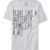 Aeropostale  Mens Butterfly Ali Graphic T-Shirt - Gray