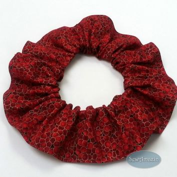 Holly Berry Red Christmas Dog Cat Scrunchie Neck Ruffle