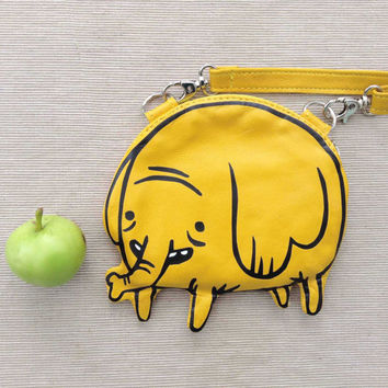 Small Tree Trunks Leather Purse