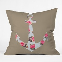 Allyson Johnson Floral Anchor Throw Pillow