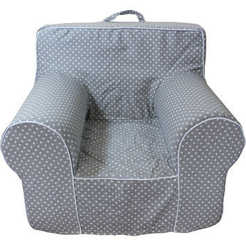 Grey Microdot Chair Cover for Foam Childrens Chair