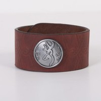 Browning Leather Cuff Bracelet