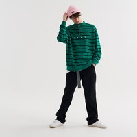 Lazy Oaf Green Stripe Sweatshirt - Everything - Categories - Mens