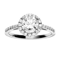 ReneSim Diamond Ring in Halo Design Brilliant-Cut