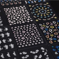 30 Sheet 3D Mix Color Floral Design Nail Art Stickers Decals Manicure Beautiful Fashion Accessories Decoration H11541 Cosmetic = 5658937537
