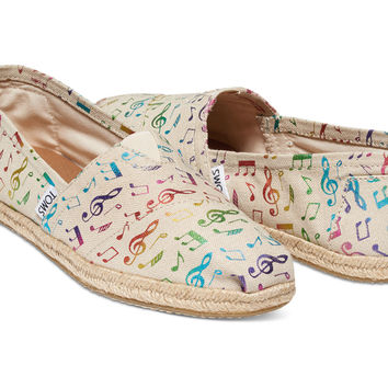 RAINBOW MUSIC NOTES WOMEN'S CLASSICS