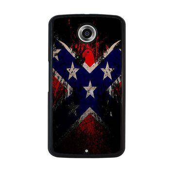 browning rebel flag nexus 6 case cover  number 1