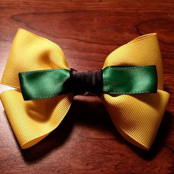 Pluto inspired Disney hair bow