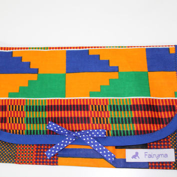 Kente baby clutch-Diaper/Wipes Holder-