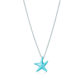 Tiffany & Co. - Elsa Peretti® Starfish pendant of turquoise and sterling silver.
