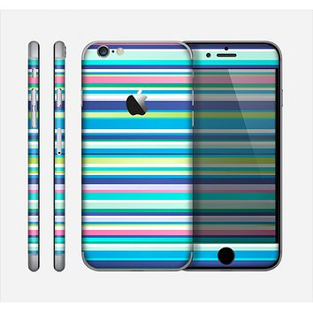 The Vibrant Colored Stripes Pattern V3 Skin for the Apple iPhone 6