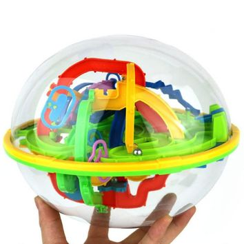 Kids Brain Educational Toys Gift Balance Logic Ability Intellect 3D Maze Puzzle Ball For Children Gifts