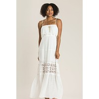 Angelina Off White Crochet Maxi Dress
