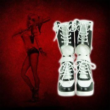 Harley Quinn Women Slim Boots Shoes 2017 New Women Boots Sexy snow boots women's winte