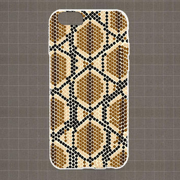 Snake Skin Texture iPhone 4/4S, 5/5S, 5C Series Hard Plastic Case