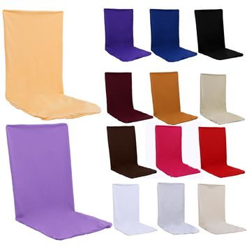 14 Color Pure Elastic Cloth Chair Covers For Weddings Decoration Party Chair Slipcovers Banquet Dining Chair Covers Protector