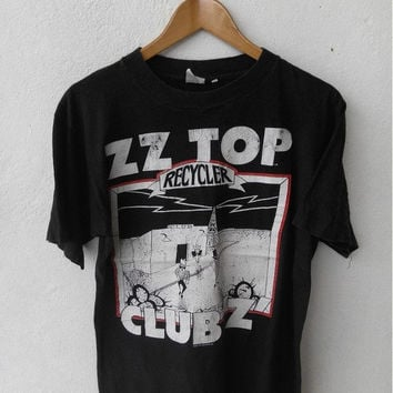 ON SALE 90's Vintage ZZ Top Recycler Club Z Blues Hard Rock Punk Concert Tour 1991 T shirt