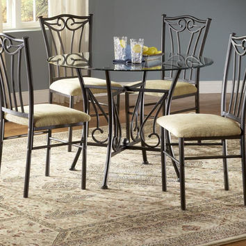 Heritage Glass Round Dining Set