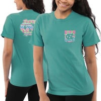 North Carolina Tar Heels Women's Coastal Aztec T-Shirt – Seafoam