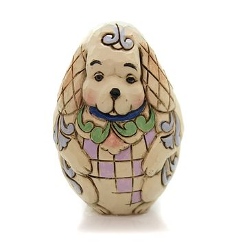 Jim Shore ANIMAL CHARACTER EGGS Polyresin Hand Painted 6001079 Dog
