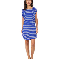 Splendid Cayman Stripe Dress Cobalt/White - 6pm.com