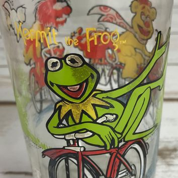 Glass Kermit The Frog 1981 Jensen McDonald's The Great Muppet Caper