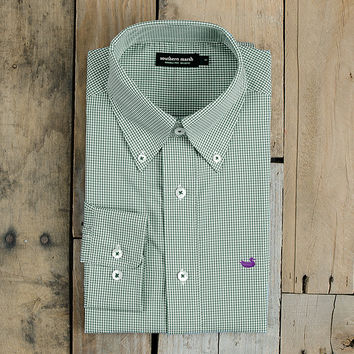 The Gadwall Gingham from Southern Marsh - Wrinkle-Free - Collegiate - Tulane University