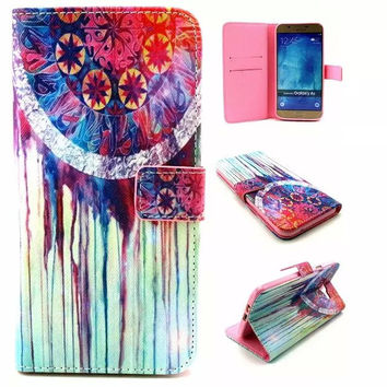 Retro Classic Dreamcatcher Leather creative case Cover Wallet for iPhone & Samsung Galaxy