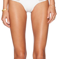 Blue Life Heartbreaker Brazilian Bikini Bottom in White