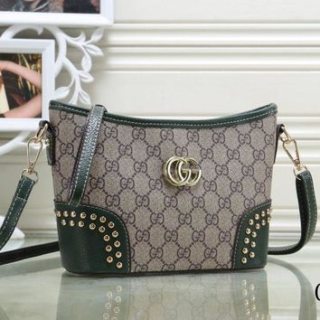 Gucci New Fashion Women Leather Satchel Bag Shoulder Bag Handbag Crossbody