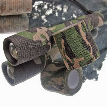 Army Camo Outdoor Hunting Shooting Tool Camouflage Stealth Tape Waterproof Wrap Durable Cloth Tape Free Shipping