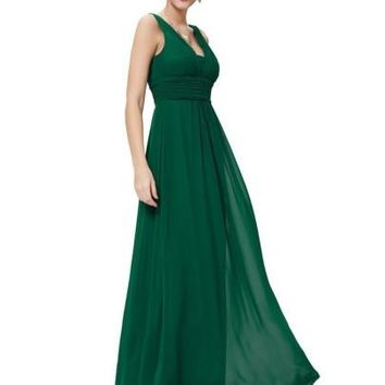 Backless Chiffon Women's Maxi Dress