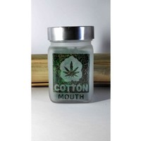 Cotton Mouth Etched Glass Stash Jar