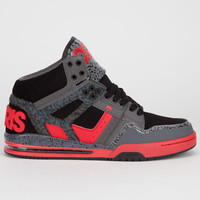 Osiris Rucker Mens Shoes Charcoal/Red/Black  In Sizes