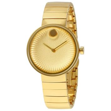 Movado Edge Yellow Gold-Tone Stainless Steel Ladies Watch 3680014