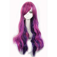 L-email Synthetic Colorful Long Wavy Cosplay Hair Wigs
