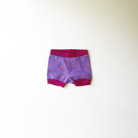 Arrows Organic Baby Shorties in Lavender and Raspberry