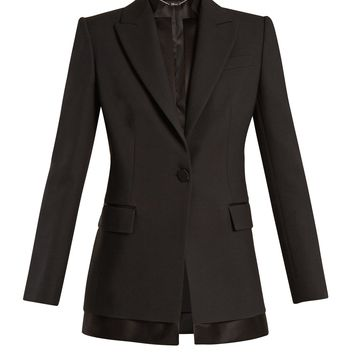 Single-breasted wool and silk-blend jacket | Alexander McQueen | MATCHESFASHION.COM US