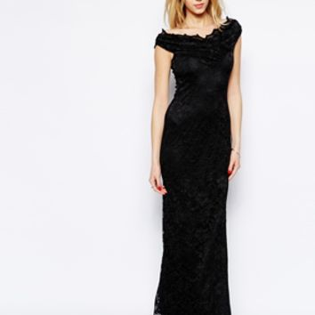 Jessica Wright Reena Lace Maxi Dress - Black