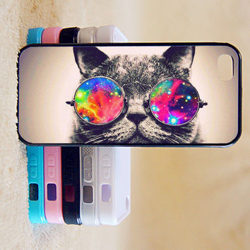 Cute Cat with Sunglasses,Custom Case, iPhone 4/4s/5/5s/5C, Samsung Galaxy S2/S3/S4/S5/Note 2/3, Htc One S/M7/M8, Moto G/X