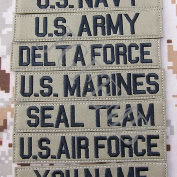 Black letters Tan Custom Name tapes Chest Tapes Services Tapes morale tactical military Embroidery patch