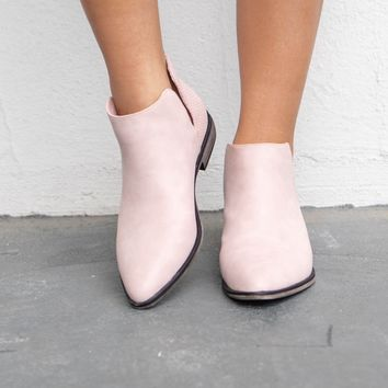 Little Love Blush Open Side Bootie