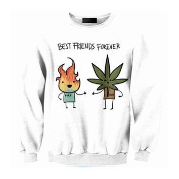 Best Friends Forever Crew-Neck Sweater - CannaCrews