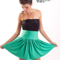 Mini Ballet Skirt High Rise Green by fashionmeme on Etsy