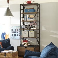 Industrial Wood + Metal Bookcase