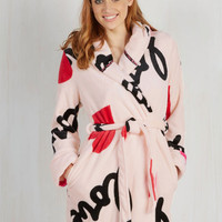 Quirky Loveliest Lounging Robe in Amour
