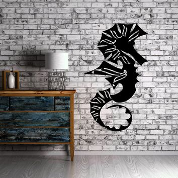 Sea Horse Ocean Sea Marine Animal Art Decor Wall Mural Vinyl Sticker Unique Gift M440